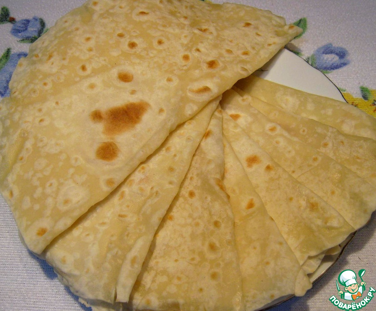 Толстый лаваш в домашних условиях рецепт с фото пошагово и 58