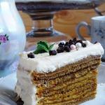 Блинный торт « Зима, прощай!»