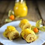 Кукурузные блинчики с манговым соусом