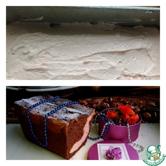 Творожно шоколадный кекс в духовке