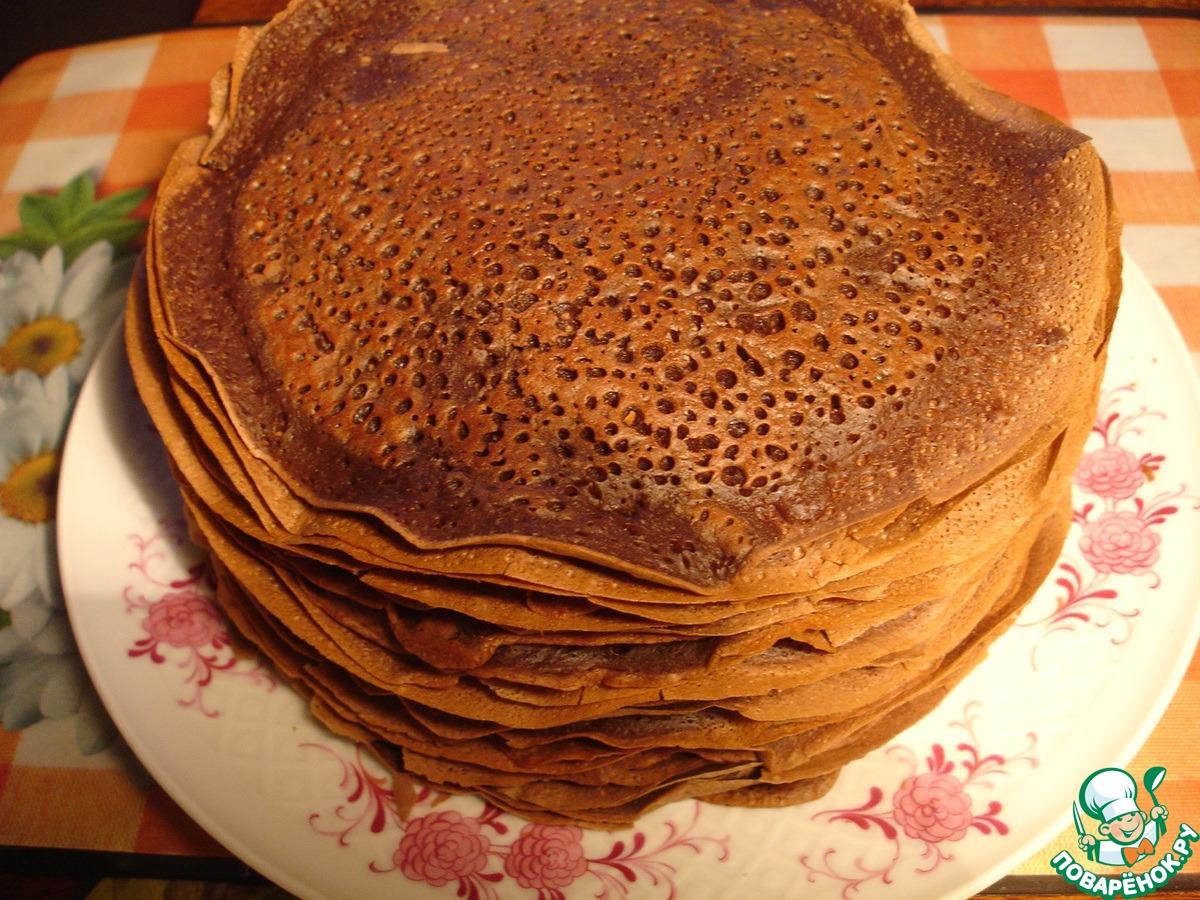 Рецепт шоколадных блинов пошагово