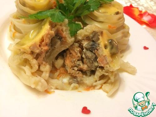 Салангани рецепт с грибами