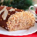 Бисквитный рулет с шоколадным кремом Полено