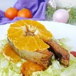 Лосось, запеченный с мандаринами