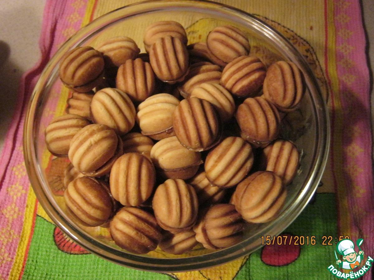 Печенье орешки без начинки в форме на газу рецепт