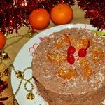 """Мандариновый торт с печеньем """"Савоярди"""""""