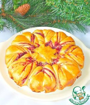 рождественский пирог в виде звезды