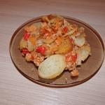 Картофельная запеканка с рисом и капустой