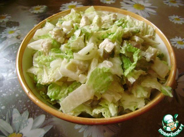 рецепт салата нежный из куриной грудки