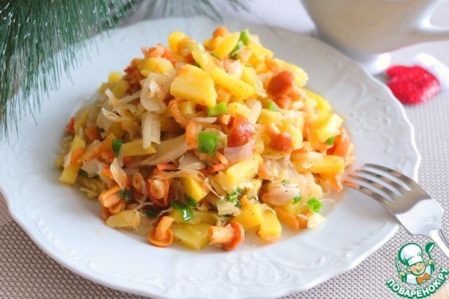 салаты рецепты с маринованной капустой и