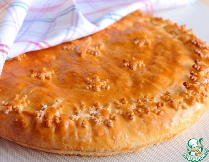 Рецепт: Пирог с капустой, яйцом и сыром