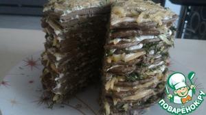 """Рецепт: Печёночный торт """"Печёник"""""""