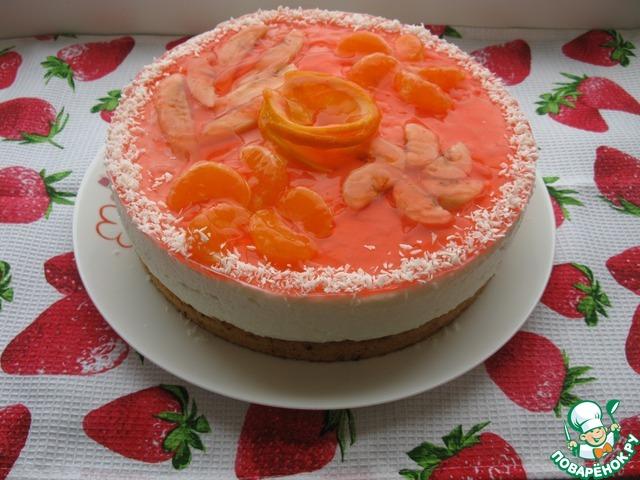 Рецепт творожного торта с фруктами и желе