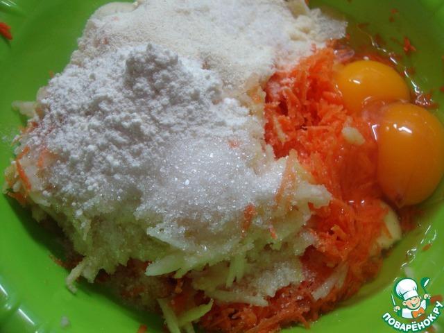 Морковно яблочные оладьи рецепт с фото