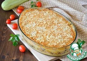 Рецепт: Мясная запеканка с овощным пюре