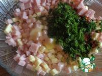 Рогалики с сыром и ветчиной ингредиенты