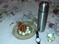 Горячая закуска на льду