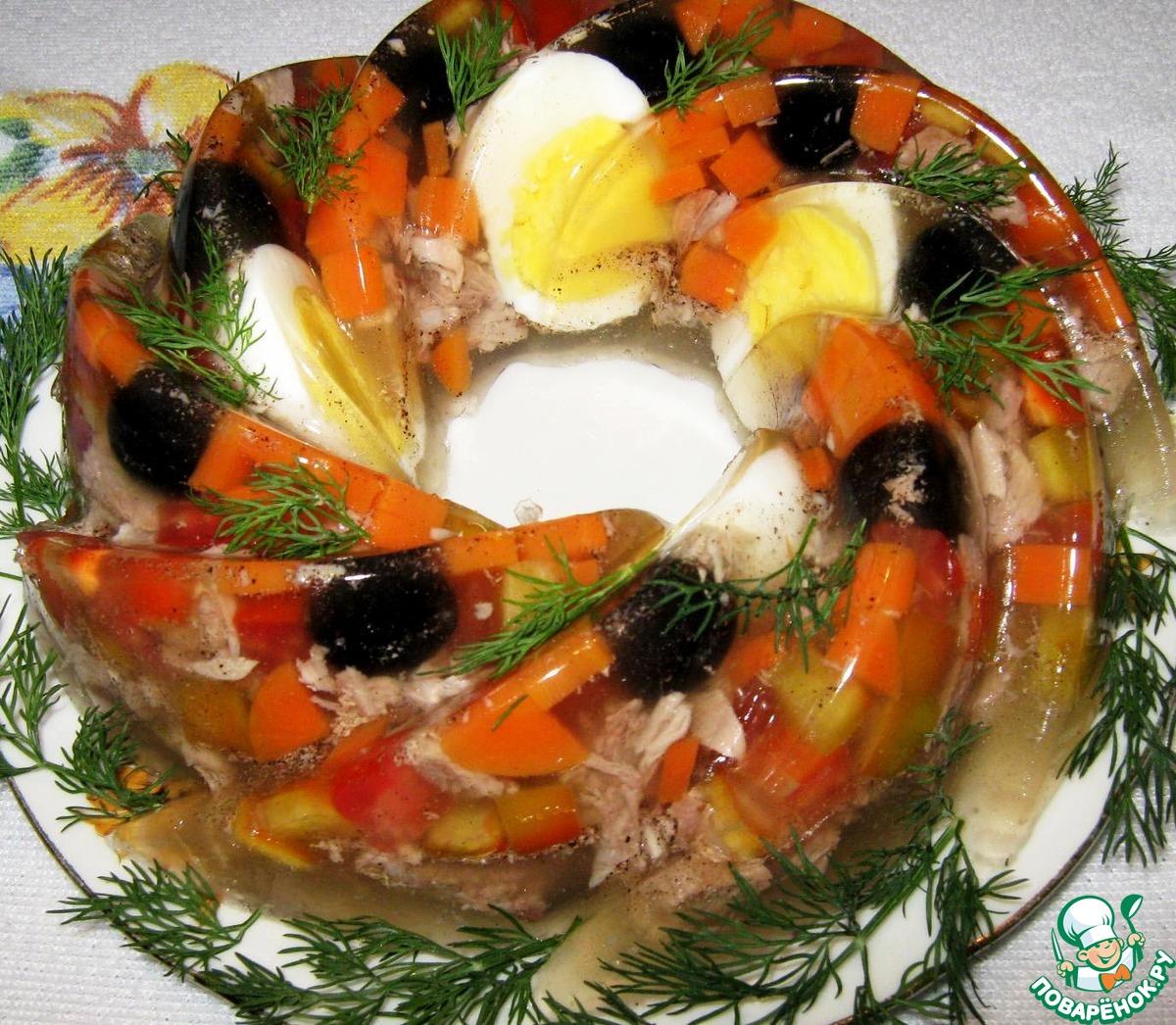 Рецепт заливного из рыбы пошаговое фото