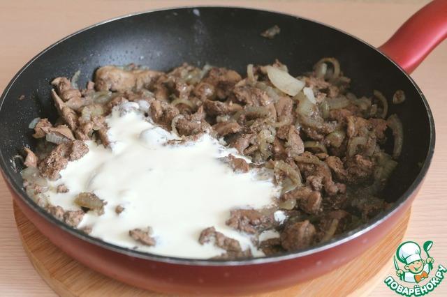 Тушеная печень в сливках рецепт с пошагово в 186