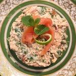 """Нежный салат с лососем """"Любимому"""""""
