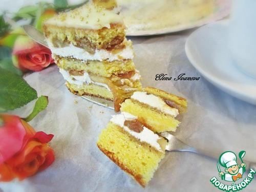 """Торт """"Карамельные яблочки"""""""