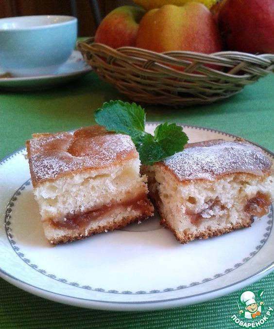 Простой пирог к чаю рецепт с с манкой