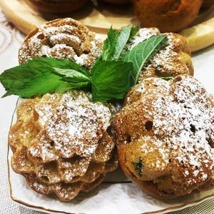 Рецепт: Нежные ванильно-мятные кексы
