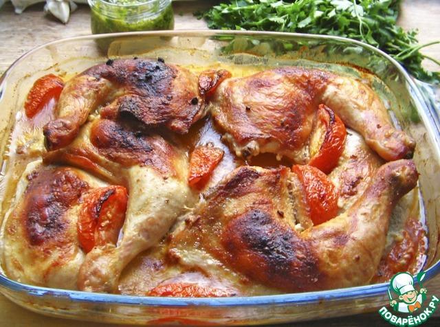 Куриная голень в сметане на сковороде рецепт пошагово