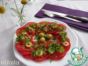 Рецепт: Карпаччо из помидоров