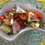 Теплый салат из паприки