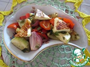 Рецепт: Теплый салат из паприки