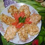 Куриные оладьи с хреном