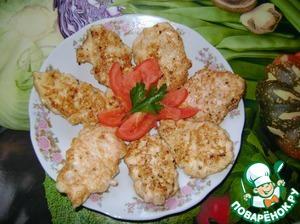 Рецепт: Куриные оладьи с хреном