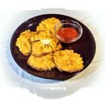 Луковая закуска с начинкой из курицы