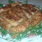 Брюшки лосося с овощами
