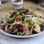 Теплый картофельный салат по-грузински