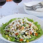 Салат из яиц, моркови и лука