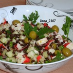 Салат из чечевицы с крабовыми палочками