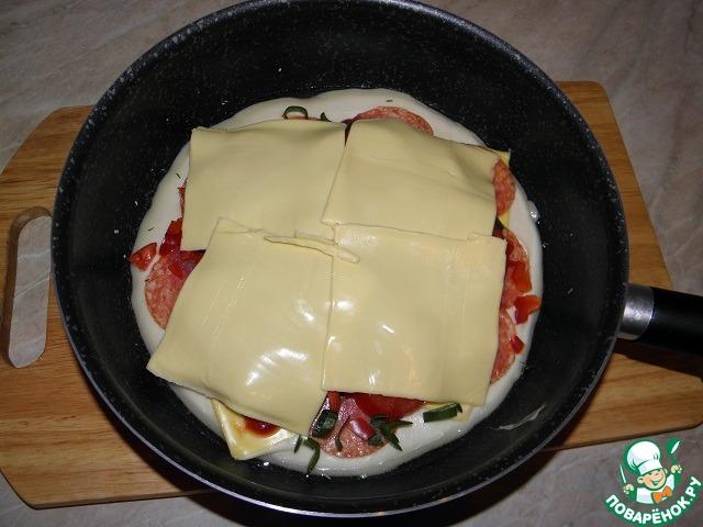 Пицца на сковороде рецепт с плавленным сыром