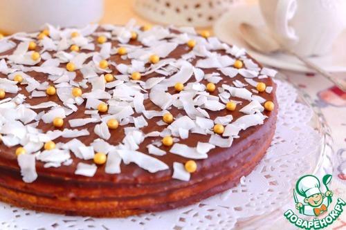 """Торт """"Микадо"""" кокосовый"""