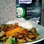 Рис с индейкой и капустой