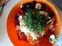 Куриный а-ля холодец с сыром и овощами ингредиенты