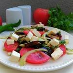 Салат с баклажанами и сыром