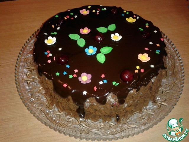 рецепт торта вишневый поцелуй