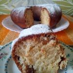 Ванильный кекс с изюмом без яиц