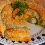 Пирог со шпинатом и яйцами