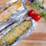 Кукуруза, запеченная в фольге с сыром