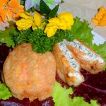 Фаршированные цветы кабачков в кляре