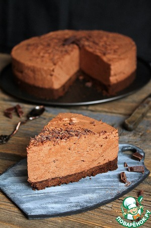 Шоколадный торт-мусс без выпечки