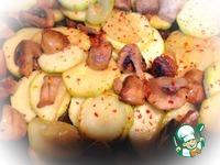 Жареные кабачки с грибами ингредиенты